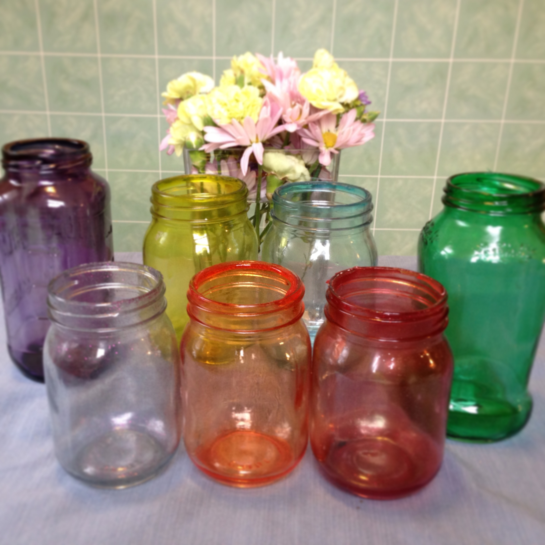 The Saturday Showcase Colored Mason Jars Sz The Day
